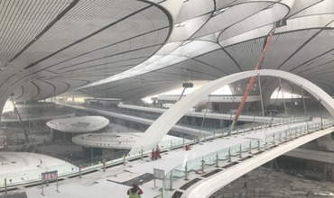 The Construction of Beijing Daxing International Airport Terminal is in full swing