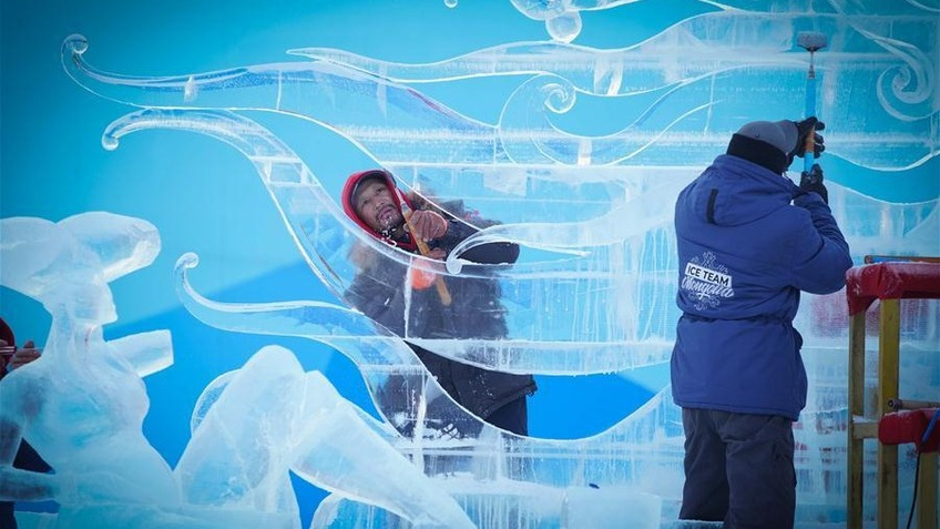 In pics: 9th China Harbin International Ice-Assemblage Championship