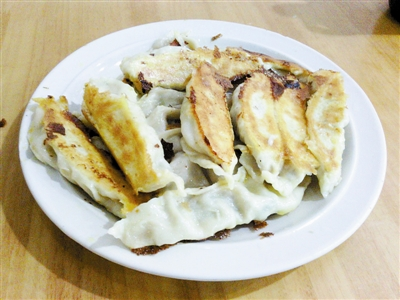 Fried dumplings on the Narrow Street