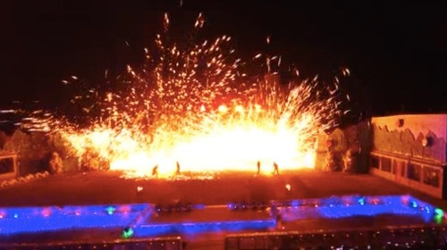 The impression on Yanqing: molten metal show at the Great Wall_fororder_打鐵花