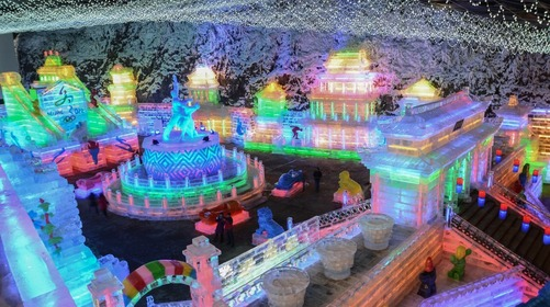 Beijing Yanqing has introduced five routes about Longqing Gorge Ice Lantern for visitors_fororder_3