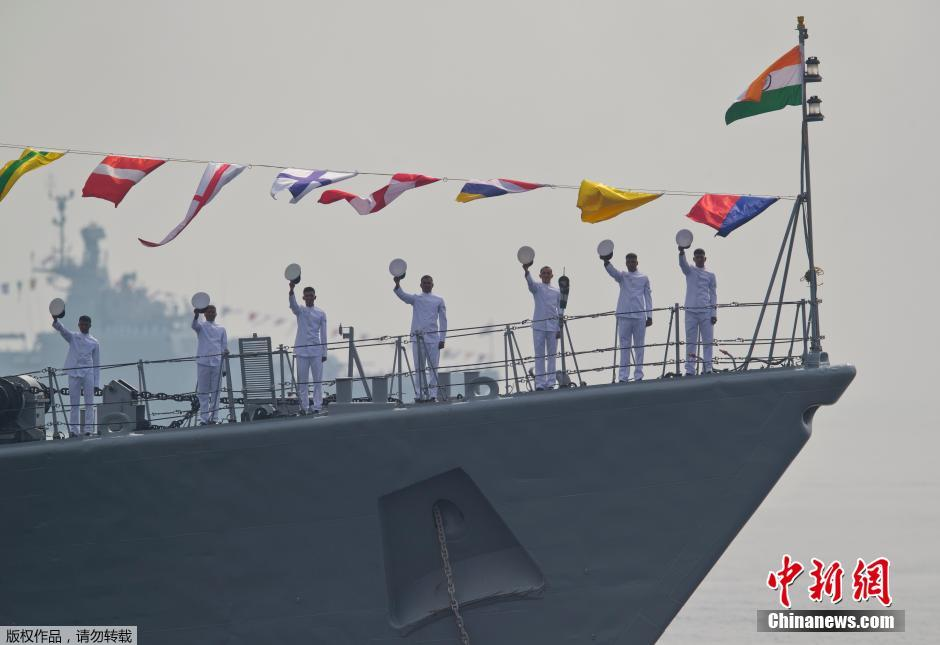 India held nearly 90 warships to participate in the international sea naval review