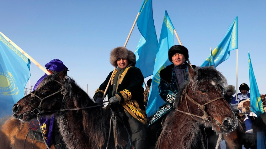 """In Pics: Kazakh riders take part in challenge of """"My Flag, My Homeland"""""""