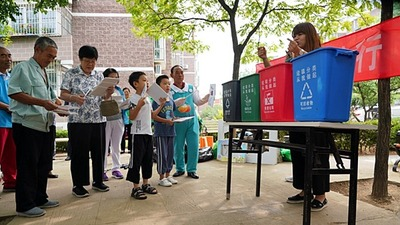 The publicity activity of garbage sorting knowledge kicked off in Yanqing, Beijing