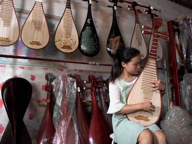 Musical instrument production in Lankao County, central China's Henan