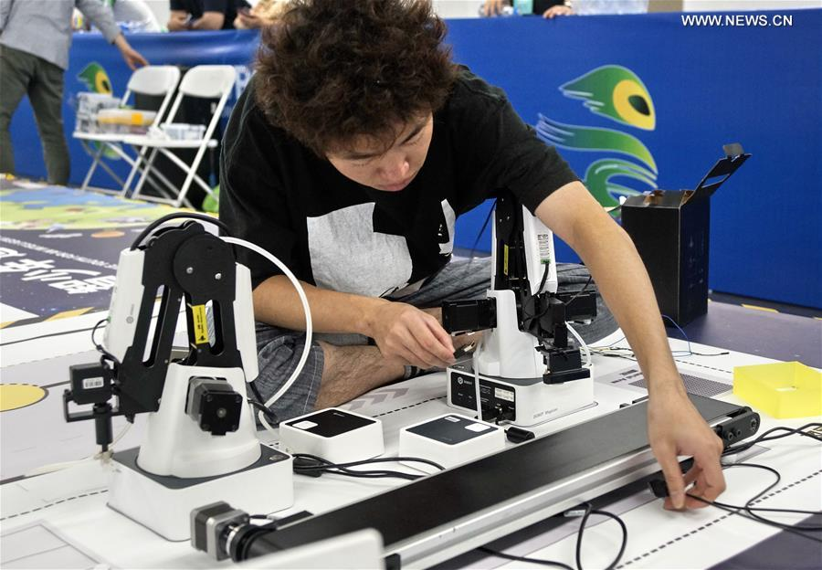 Contestants compete at World Robot Contest Champions in Beijing
