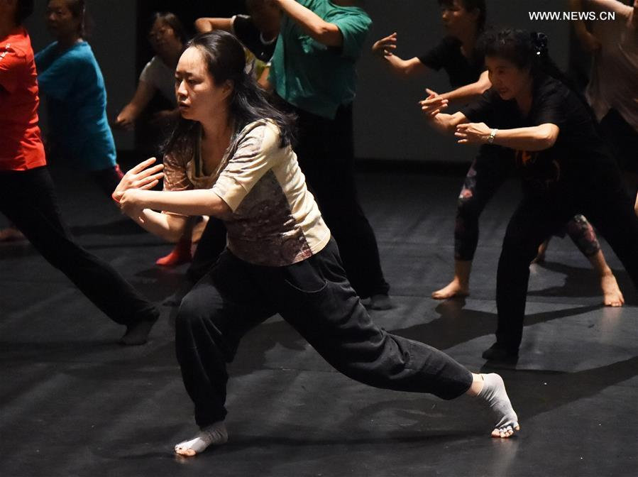 Learners attend dancing class during 5th Beijing NEW Dance Festival