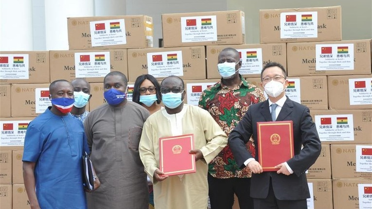 China helps Ghana's ruling party to fight COVID-19 with medical supplies