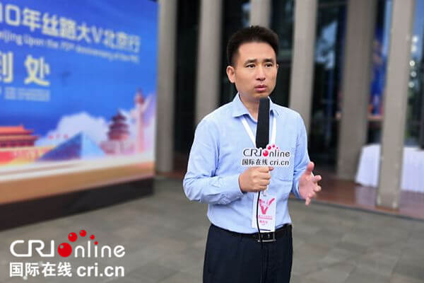 Celebrities from Silk Road countries visit Beijing Expo 2019: green technology adds charm to horticulture_fororder_5 (2)