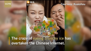 Craze of Eating Crunchy Ice Has Taken over the Chinese Internet