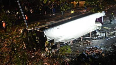 At least 18 killed, 62 injured after bus overturns in Hong Kong