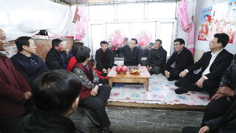 Chinese premier stresses people's well-being in Spring Festival inspection
