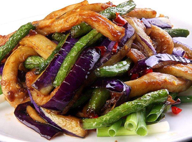 Stir-fried Eggplants