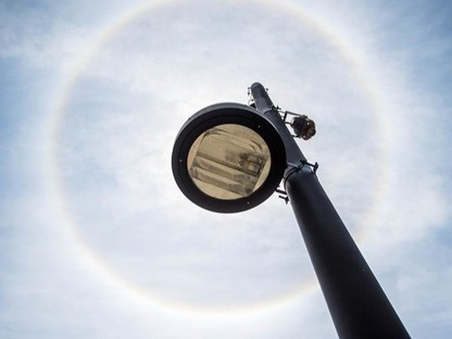 Solar halo seen over Kunming City