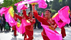 Yangge dancing troupe brings visitors authentic flavor of China' s North Shaanxi culture