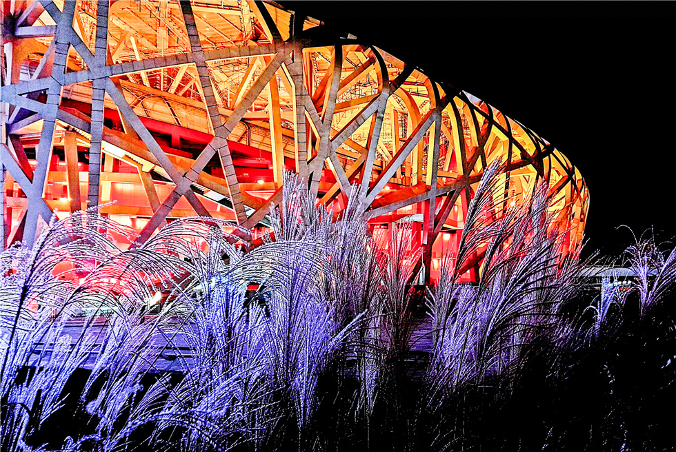 Bright night shows the another beauty of Beijing