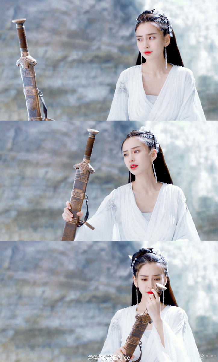 The solitary fang Angelababy is modelling beautiful acting praise