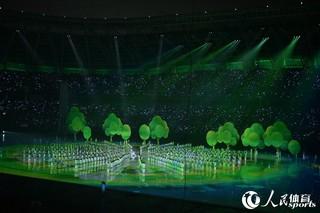 第十三届全运会开幕式举行 文艺表演精彩纷呈