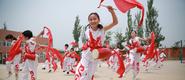 渭南:安塞腰鼓进校园