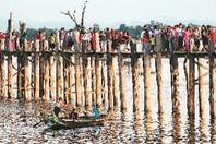 来缅甸 看世界最长的柚木桥