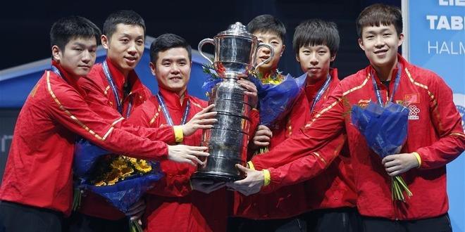 世乒赛:中国队捧得斯韦思林杯